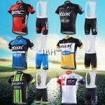 Team pro cycling short sleeve jerseys BIB set men BMC ETIXX SCOTT IAM Didata