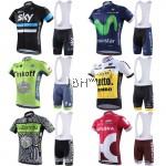 Team pro cycling jerseys BIB set men Sky Movistar Tinkoff LOTTO Katusha
