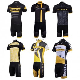 Shorts sleeve cycling jersey Livestrong Armstrong Adidas padded